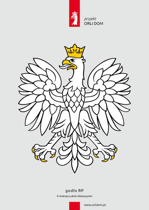 godło RP, wersja pełna